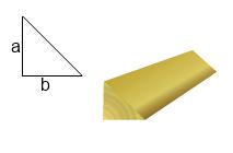 Liteaux triangle bois